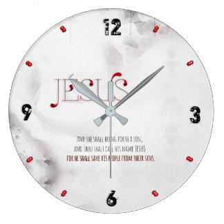 Grande Horloge Ronde JÉSUS est notre SAUVEUR 93