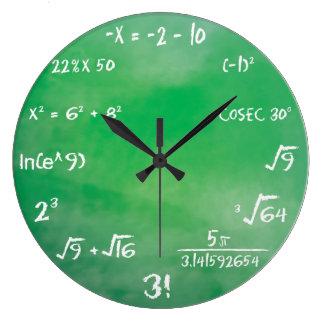 Grande Horloge Ronde Jeu-concours d'équation de mathématiques pour le
