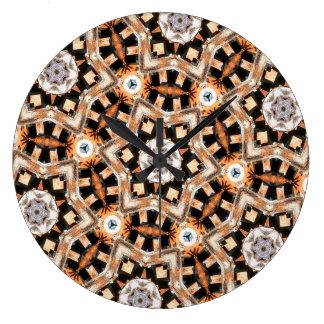 Grande Horloge Ronde Kaléidoscope abstrait