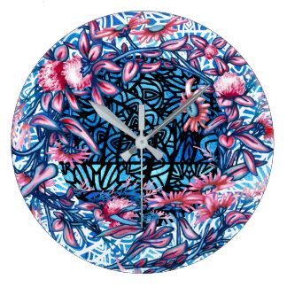Grande Horloge Ronde La guirlande florale de fleur plante botanique
