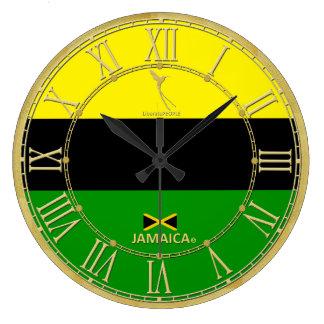 Grande Horloge Ronde La Jamaïque colore l'horloge moderne de chiffres