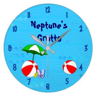Grande Horloge Ronde La piscine de ballon de plage joue des nombres