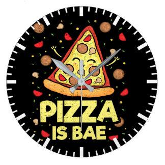 Grande Horloge Ronde La pizza est Bae - bande dessinée drôle -