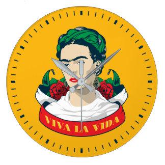 Grande Horloge Ronde La Vida de vivats de Frida Kahlo |