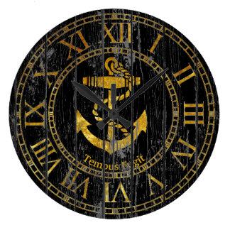 Grande Horloge Ronde L'ancre d'or personnalisent
