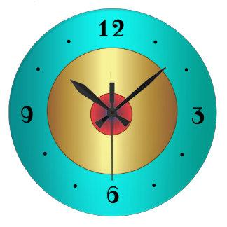 Grande Horloge Ronde L'aqua riche avec la cuisine de >Plain de centre