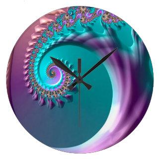 Grande Horloge Ronde L'arbre d'art d'abstraction aiment l'effet