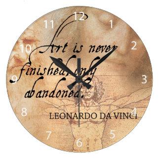 Grande Horloge Ronde L'art n'est jamais de finition, seulement