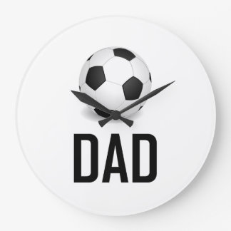 Grande Horloge Ronde Le ballon de football folâtre le papa