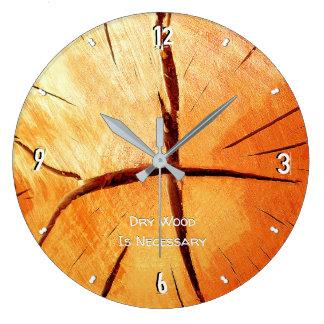 Grande Horloge Ronde Le bois sec est 93 nécessaires