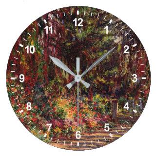 Grande Horloge Ronde Le chemin de jardin chez Giverny