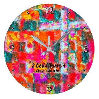Grande Horloge Ronde Le Christ Liveth dans moi 93