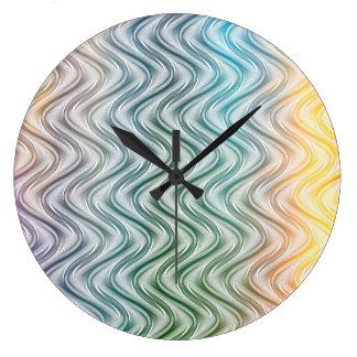 Grande Horloge Ronde Le cool à la mode colore l'art abstrait