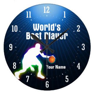 Grande Horloge Ronde Le meilleur basket-ball du joueur | du monde
