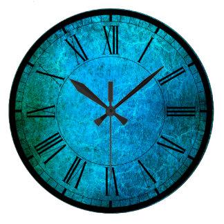 Grande Horloge Ronde Le paon élégant colore l'horloge murale