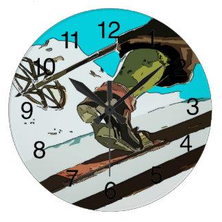 Grande Horloge Ronde Le ski de montagne, ajoutent le texte