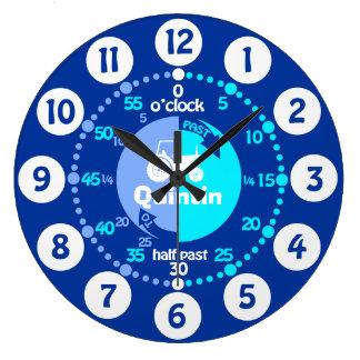 Grande Horloge Ronde Les garçons apprennent à dire à temps l'horloge