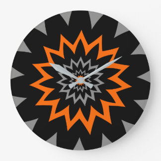 Grande Horloge Ronde L'étendue de floraison :  Noir et orange