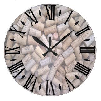 Grande Horloge Ronde Lièges de vin