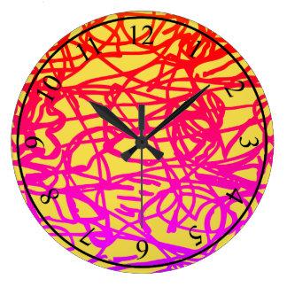 Grande Horloge Ronde Lignes perdues