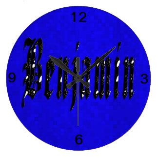 Grande Horloge Ronde Logo nommé de Benjamin,