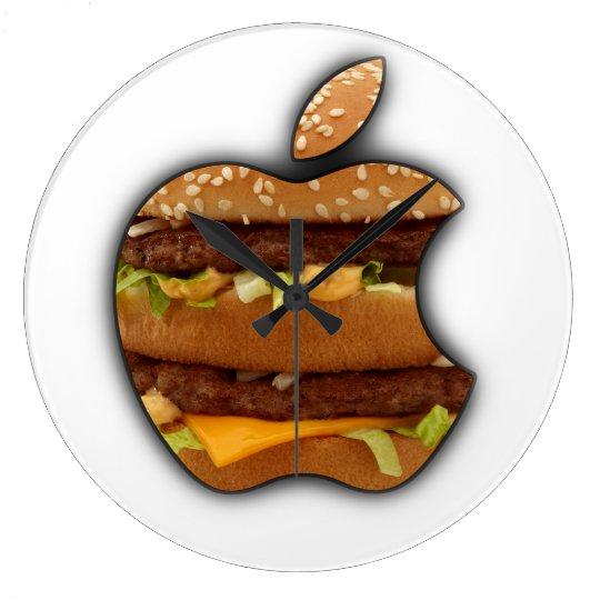 Grande Horloge Ronde Macintosh Apple conçoivent l'horloge murale