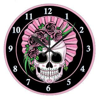 Grande Horloge Ronde Madame Sugar Skull