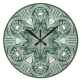 Grande Horloge Ronde Mandala de forêt