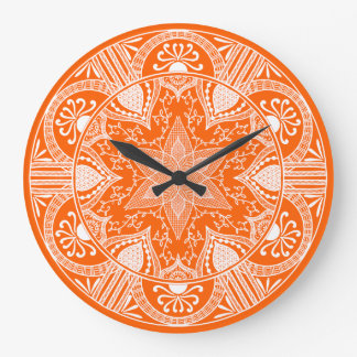 Grande Horloge Ronde Mandala de pavot