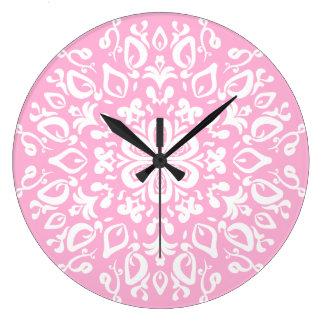 Grande Horloge Ronde Mandala rose