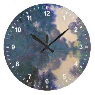 Grande Horloge Ronde Matin sur la Seine près de Giverny