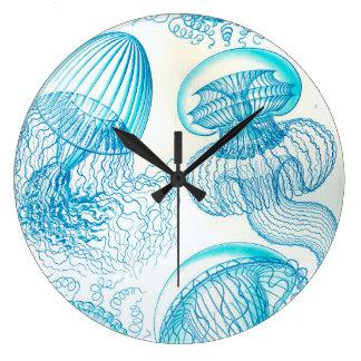 Grande Horloge Ronde Méduses d'Ernst Haeckel Leptomedusae