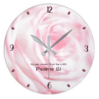 Grande Horloge Ronde Mon cometh d'aide du SEIGNEUR 93