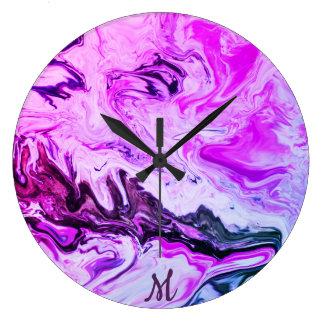 Grande Horloge Ronde Monogramme coloré de conception de remous