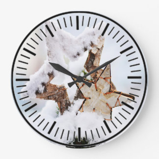 Grande Horloge Ronde motif 030 d'hiver