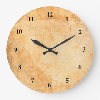 Grande Horloge Ronde Mur de briques italien de terre cuite de style