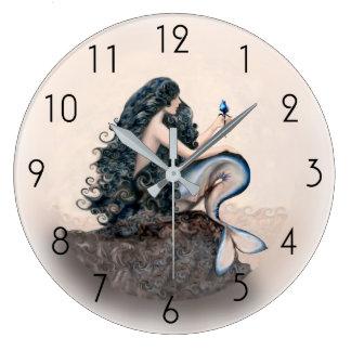 Grande Horloge Ronde Mythe d'imaginaire de sirènes de sirène