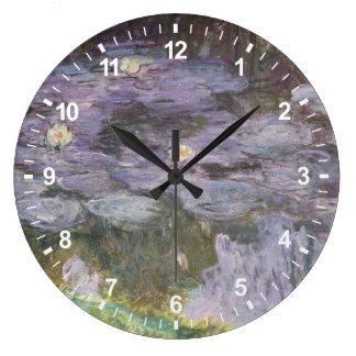 Grande Horloge Ronde Nénuphars