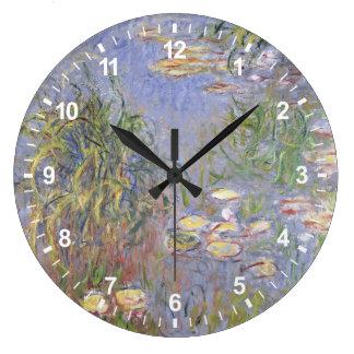 Grande Horloge Ronde Nénuphars, groupe d'herbe
