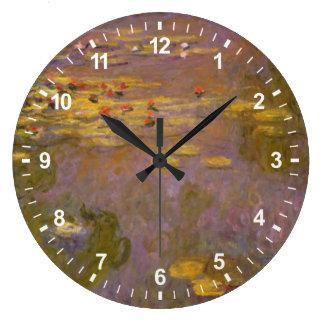 Grande Horloge Ronde Nénuphars Nympheas