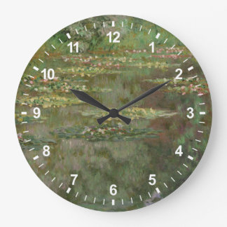 Grande Horloge Ronde Nénuphars ou l'étang Nympheas de nénuphar