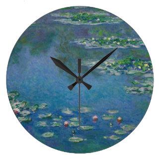 Grande Horloge Ronde Nénuphars par Claude Monet