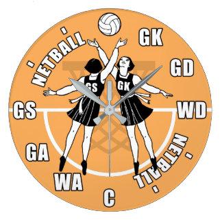Grande Horloge Ronde Net-ball de vieille école rétro