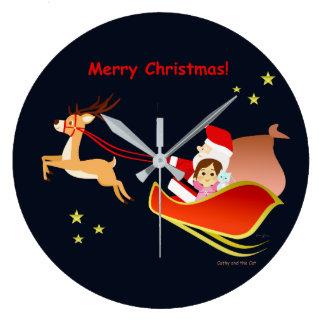 Grande Horloge Ronde Noël 3