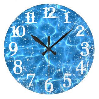 Grande Horloge Ronde Nombres affligés par blanc et recouvrement de