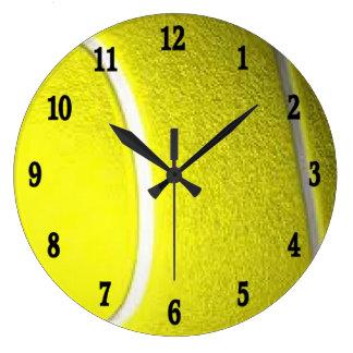Grande Horloge Ronde Nombres noirs de l'horloge murale W de sport de