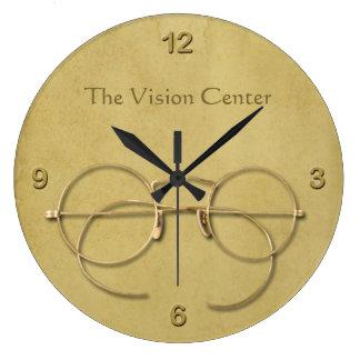 Grande Horloge Ronde Ophtalmologue, optométriste ou opticien