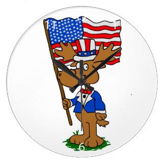 Grande Horloge Ronde Orignaux de patriote
