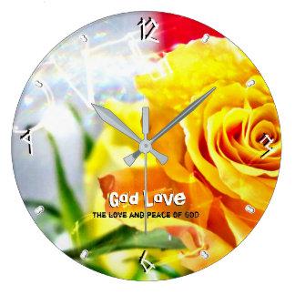 Grande Horloge Ronde Paix 93 d'amour de Dieu