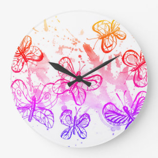 Grande Horloge Ronde Papillons de inspiration